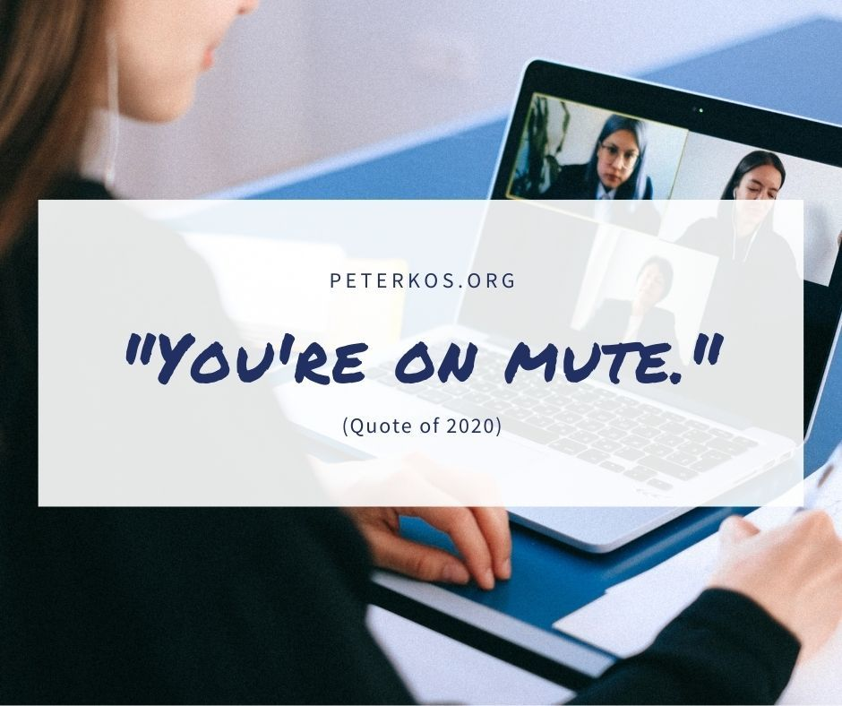You're on mute